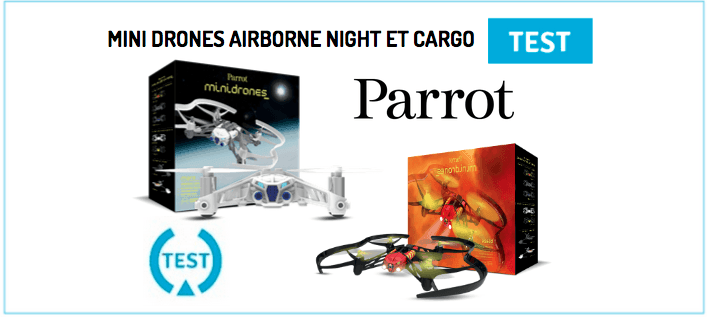 Airborne Night and Cargo Parrot mini drone test