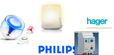 Examples of playful lighting products Living Color lamp from Philips smart health home